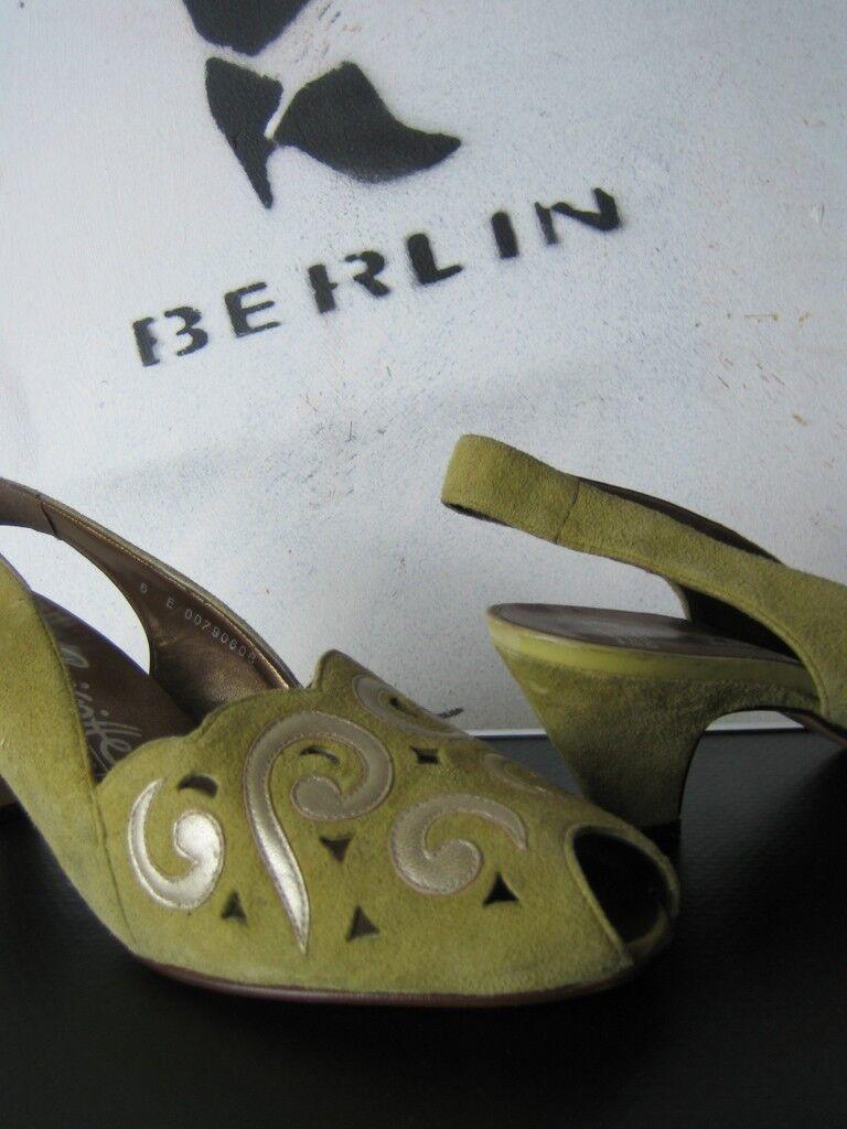 Señora PEEP TOE sandalias sandalias sandalias brigitte de Servas made in Germany True vintage de salón  tienda