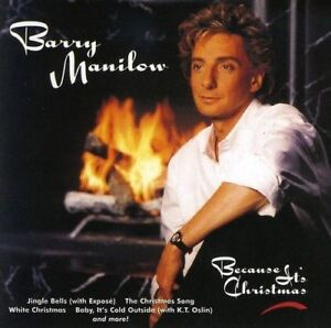 Because-It-039-s-Christmas-Barry-Manilow-CD-W-or-W-O-CASE-EXPEDITED-includes-CASE
