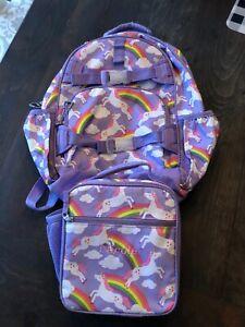 Pbk Pottery Barn Kids Lavender Unicorn Rainbow Backpack