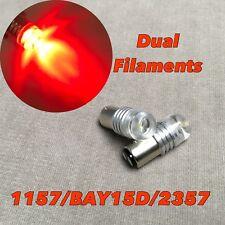 Strobe Brake Stop 1157 2057 2397 3496 7528 80W BAY15D White LED Bulb W1 GM JA