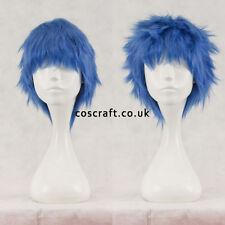 Breve Layered SOFFICI spikeable Cosplay Parrucca in blu cobalto Venditore UK Seller, Stile Jack