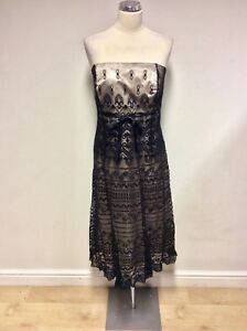 BNWT MONSOON BLACK LACE & SEQUIN TRIM STRAPLESS/