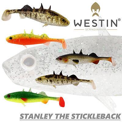 Westin Stanley the Stickleback 7,5cm 4g 4pcs BULK Soft bait Lure NEW 2019
