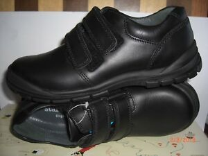 Startrite Boys Black Leather Shoes /'Engineer/'