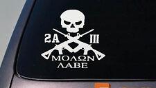 2A MOLON LABE three percenter sticker ar decal 2nd amendment obama *D726*