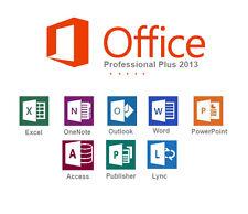 MICROSOFT Office Professional Plus 2013 KEY CON CHIAVE DI SCARTO a vita