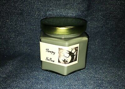 Fall Scented Soy Candle Tin Halloween Candle 6 oz Candy Corn