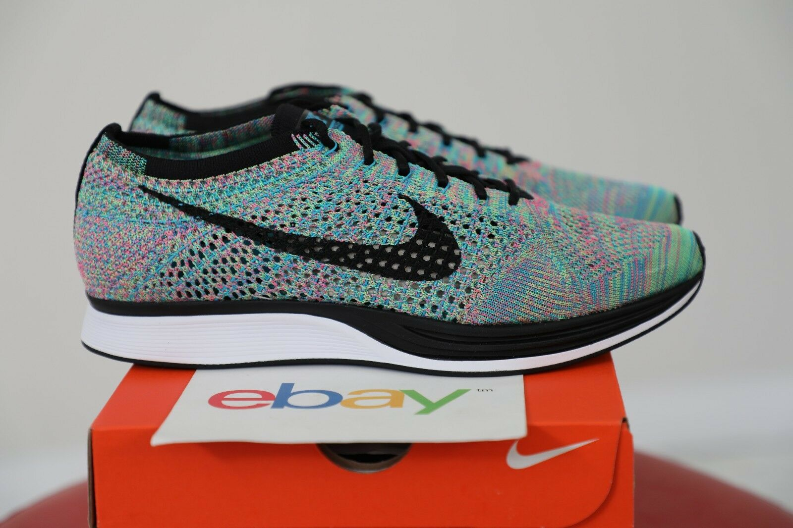 DS Nike Flyknit Racer MULTICOLOR 2.0 Comfortable Cheap and beautiful fashion