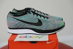 f18a51b30822 DS Nike Flyknit Racer MULTICOLOR 2.0 Size 9 blue lagoon black white ...