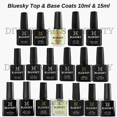 BLUESKY Top & Base Coat, Matte, No Wipe and Primer UV Soak