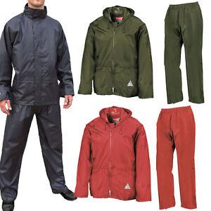 Weather-Guard-Heavy-Duty-Impermeable-y-a-prueba-de-viento-Chaqueta-Pantalones-Traje-Bolsa