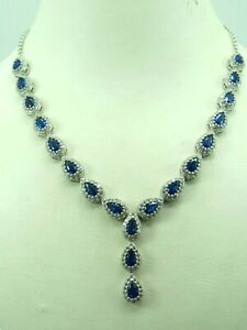 Turkish-Handmade-Jewelry-925-Sterling-Silver-Sapphire-Stone-Women-Necklace