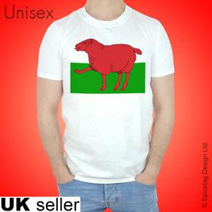 Welsh T-shirt Wales Tshirt Red Dragon Flag Cymru Sheep Cardiff Rugby ... de0930f52
