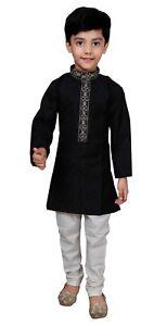 Details About Boys Indian Sherwani Kurta Pajama Fancy Dress Bollywood Wedding Kids Costume 938