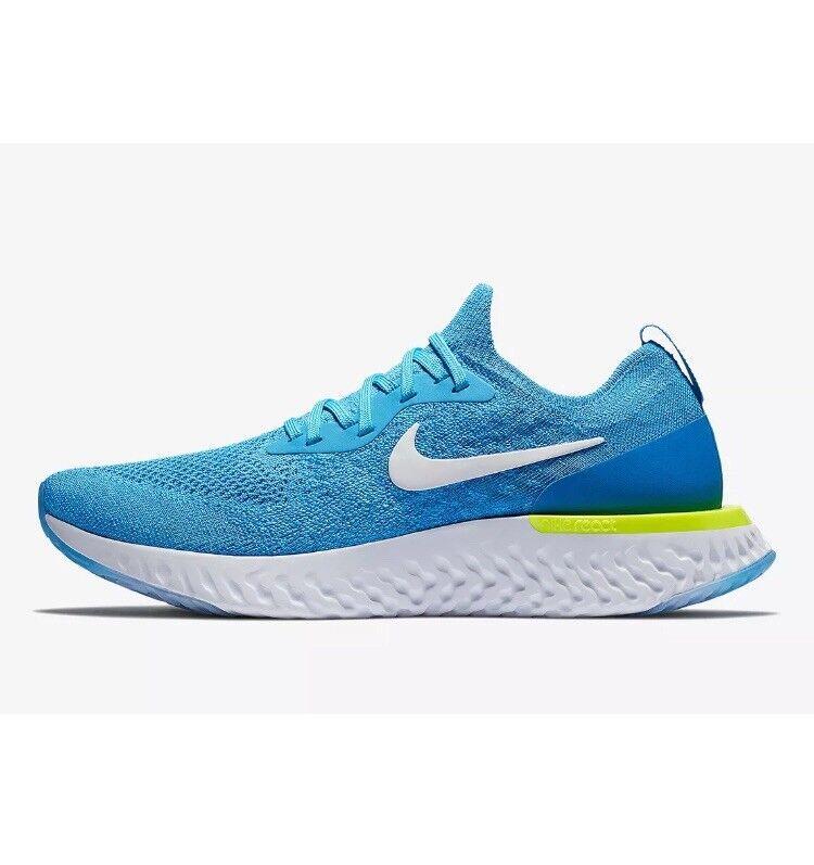 Nike epic react flyknit (GS) Size 6 bluee   Glow White  amazing Offer