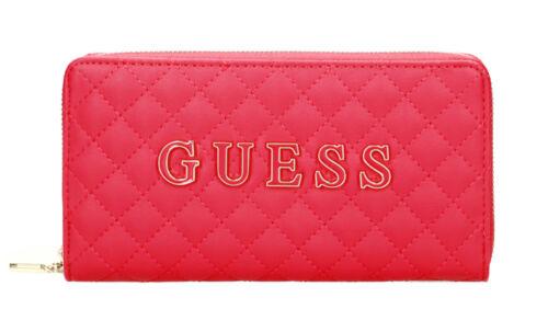 Damen-Geldbörse Portemonnaie Wallet GUESS PASSION Cheque Organizer Pink