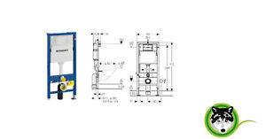 Geberit Duofix WC Element für Wand-WC, 112 cm, mit Delta UP ...