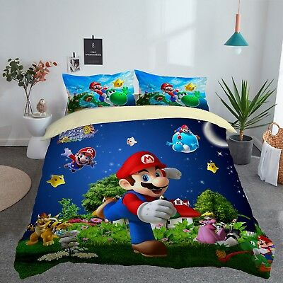 Bed Linens Sets 3d Customized Super, Super Mario Bros Full Size Bedding