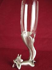 RARE Warner Bros. Pepe le Pew PENELOPE Pewter Champagne Glass Flute #62 Vtg 1994