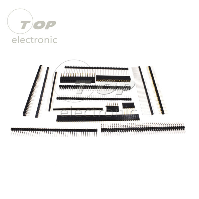 Pin Header Strip 3-40 Pin 1.27/2.0/2.54mm round Row Angle Male Female