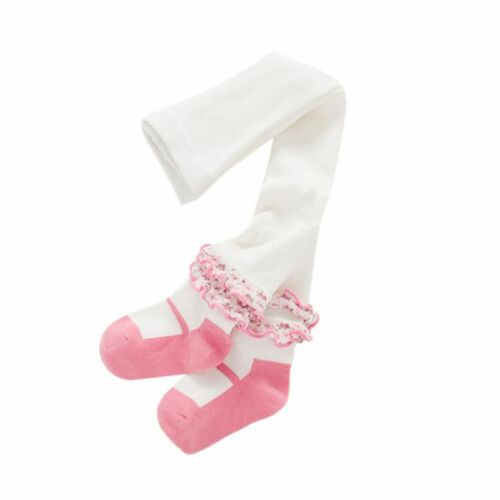Baby Toddler Kid Girls Soft Warm Tights Pantyhose Ankle Flower Pants Stockings