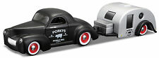 1941 Willys Coupe + Traveler Trailer, Maisto Tow & Go 1:64