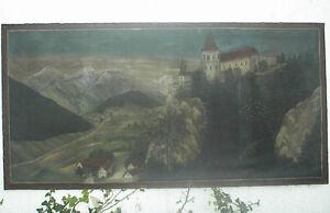 Landschaft mit Schloss um 1880
