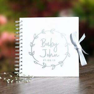 Personalised Baby Memory Book:Baby/'s 1st Year Scrapbook Photo Album 12x12 inches