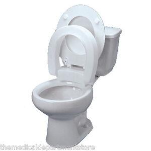 Hinged Elevated Toilet Seat Riser Ebay