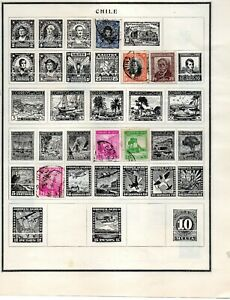Chile-6-old-stamps-vf-used-from-an-old-scott-album