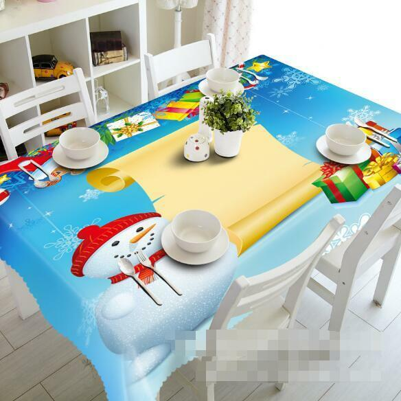 3D Snowman 874 Tablecloth Table Cover Cloth Birthday Party Event AJ WALLPAPER AU