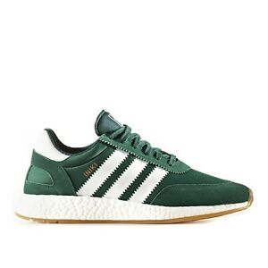 watch 57a90 ec807 Image is loading Adidas-INIKI-Runner-size-12-5-Green-White-