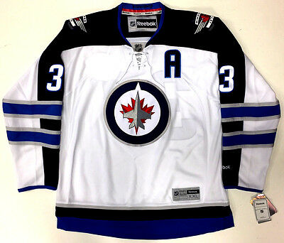 pretty nice 1cd53 00ca5 DUSTIN BYFUGLIEN WINNIPEG JETS REEBOK PREMIER AWAY JERSEY