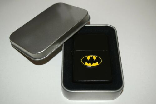 Batman Lighter inc Gift Tin Enamel Badge NO FUEL INC Smoking Gift DC Superheroes