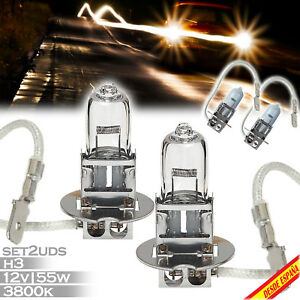 2X-BOMBILLAS-LAMPARA-HALOGENA-H3-LUZ-AMARILLA-3800K-55W-12V-CAR-LAMP-MOTO-COCHE