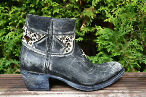 Sendra-Gr-37-Stiefeletten-Cowboy-Boots-Vintage-Style-Kurzstiefel