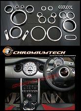 2001-2006 MK1 BMW MINI Cooper/ Cooper S/ ONE Chrome Interior Dial Dash Kit 25pc.