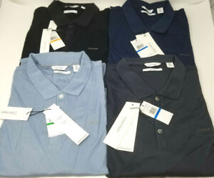 Mens-Calvin-Klien-Liquid-Touch-Polo-Solids-Choose-Size-and-Color-New-With-Tags