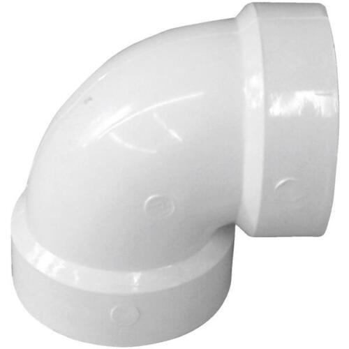 """5 Pk Genova PVC SCH 40 Drain Waste Vent Pipe 2/"""" 90 Degree Hub X Hub Elbow 70720"""