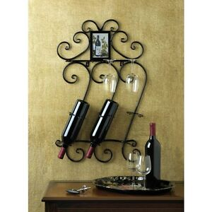 Wine-and-Glass-Holder-Rack-Wall-Mounted-New