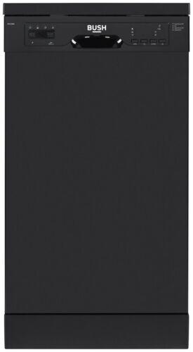 Bush BFSLNB9B Free Standing 45cm A+ Slimline Dishwasher Black.