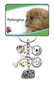 Personalized Gift Dog Lover Personalized Gift Dog Key Chain Pekingese Dog Keychain