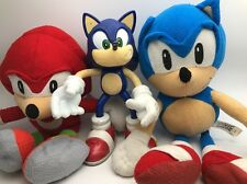 sonic and knuckles plush plus 3rd Sonic plastic sega Great Retro items  Dreamca