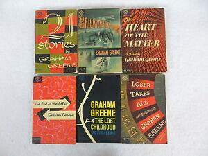 Lot-of-6-GRAHAM-GREENE-Compass-Books-Editions-Paperbacks