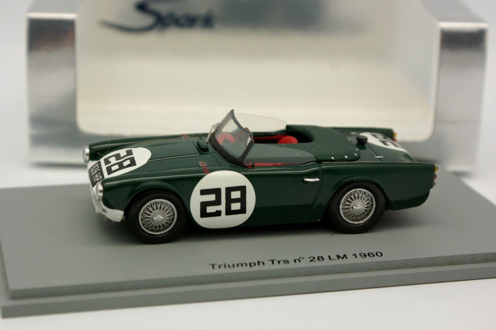 Spark 1 43  - Triumph TRS N°28 Le Mans 1960  des prix moins chers