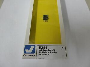 Viessmann-5241-Lokdecoder-mit-Stiftleiste-6-polig-NEM651-S-Spur-N-Neuware