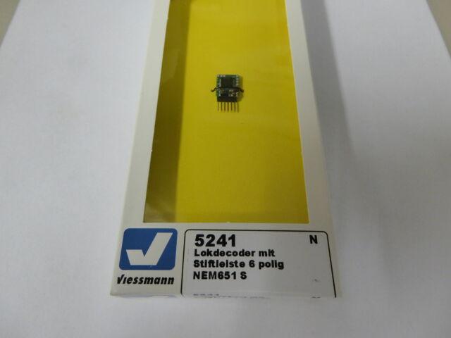 Viessmann 5241 Lokdecoder mit Stiftleiste 6 polig NEM651 S Spur N Neuware