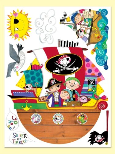 Rachel Ellen Childrens Boys Wall Stickers Decals Bedroom Nursery Fun Pirate Ship