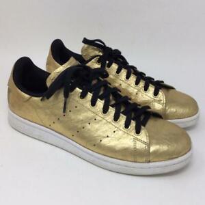 quality design 8e8cf 7d500 Details about Adidas Stan Smith Mens Size 9 Metallic Gold AQ4705