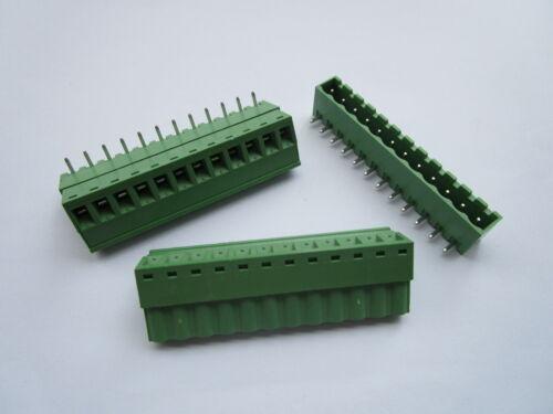 12 pcs 5.08mm Close Angle 12 pin Screw Terminal Block Connector Pluggable Type
